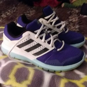 Adidas blue, white, black sneakers